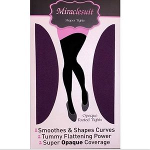 Miraclesuit Shaper Tights Opaque Footed Berry L